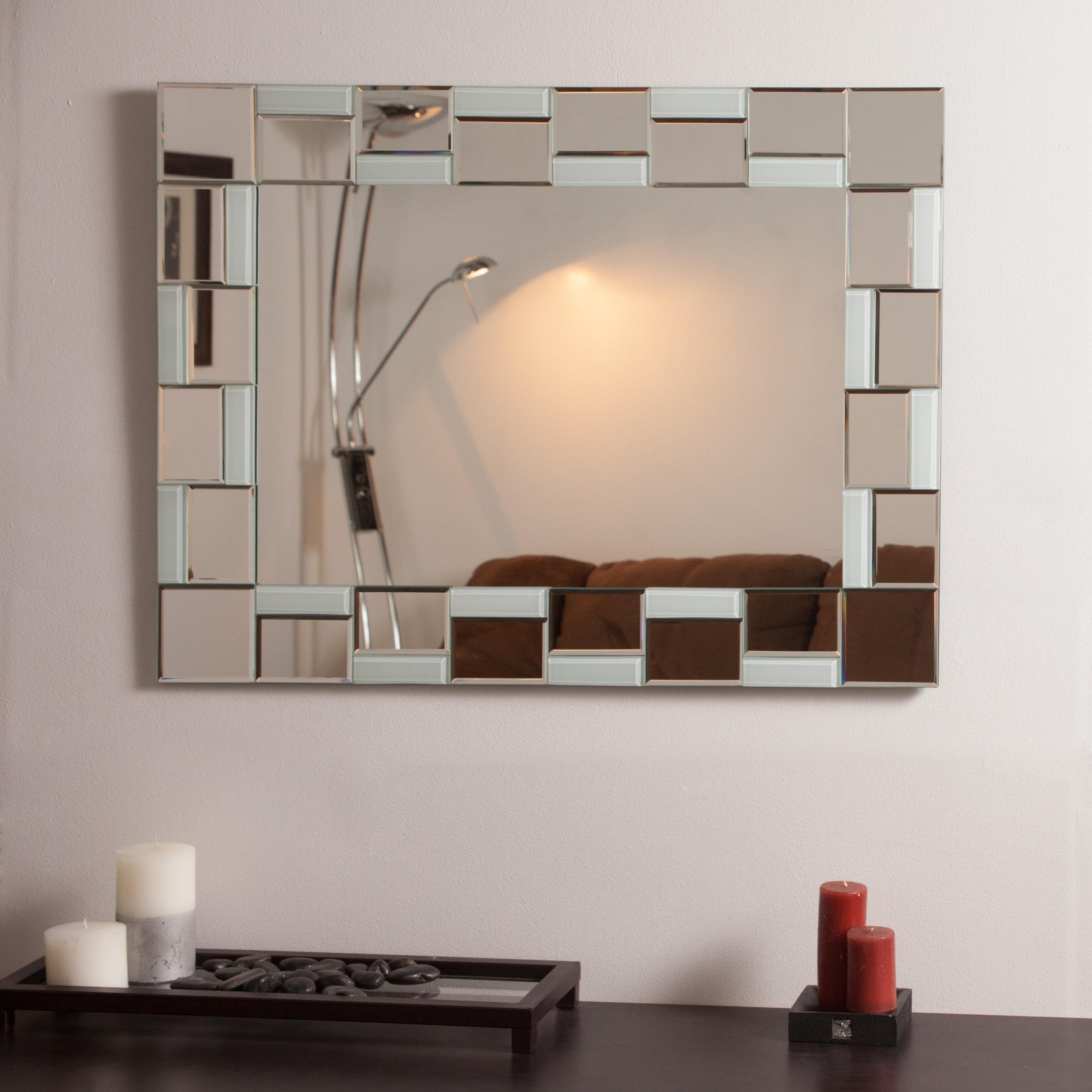 Quebec Modern Bathroom Mirror Walmart Com Walmart Com