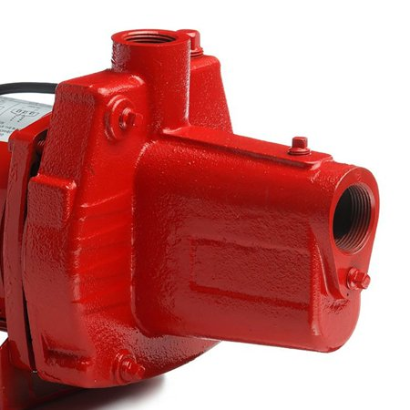 Red Lion RJS-100-PREM 1HP Cast Iron Thermoplastic Shallow Well Jet Pump | 602208 Hydraulic Jet Pump