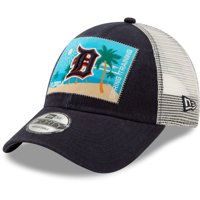 ba4c229e Product Image Detroit Tigers New Era Patched Trucker 3 9FORTY Adjustable  Snapback Hat - Navy/White -