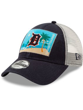 29243cd0f8c Product Image Detroit Tigers New Era Patched Trucker 3 9FORTY Adjustable  Snapback Hat - Navy White -