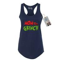 Mom The Grinch Christmas Womens Racerback Tank Top