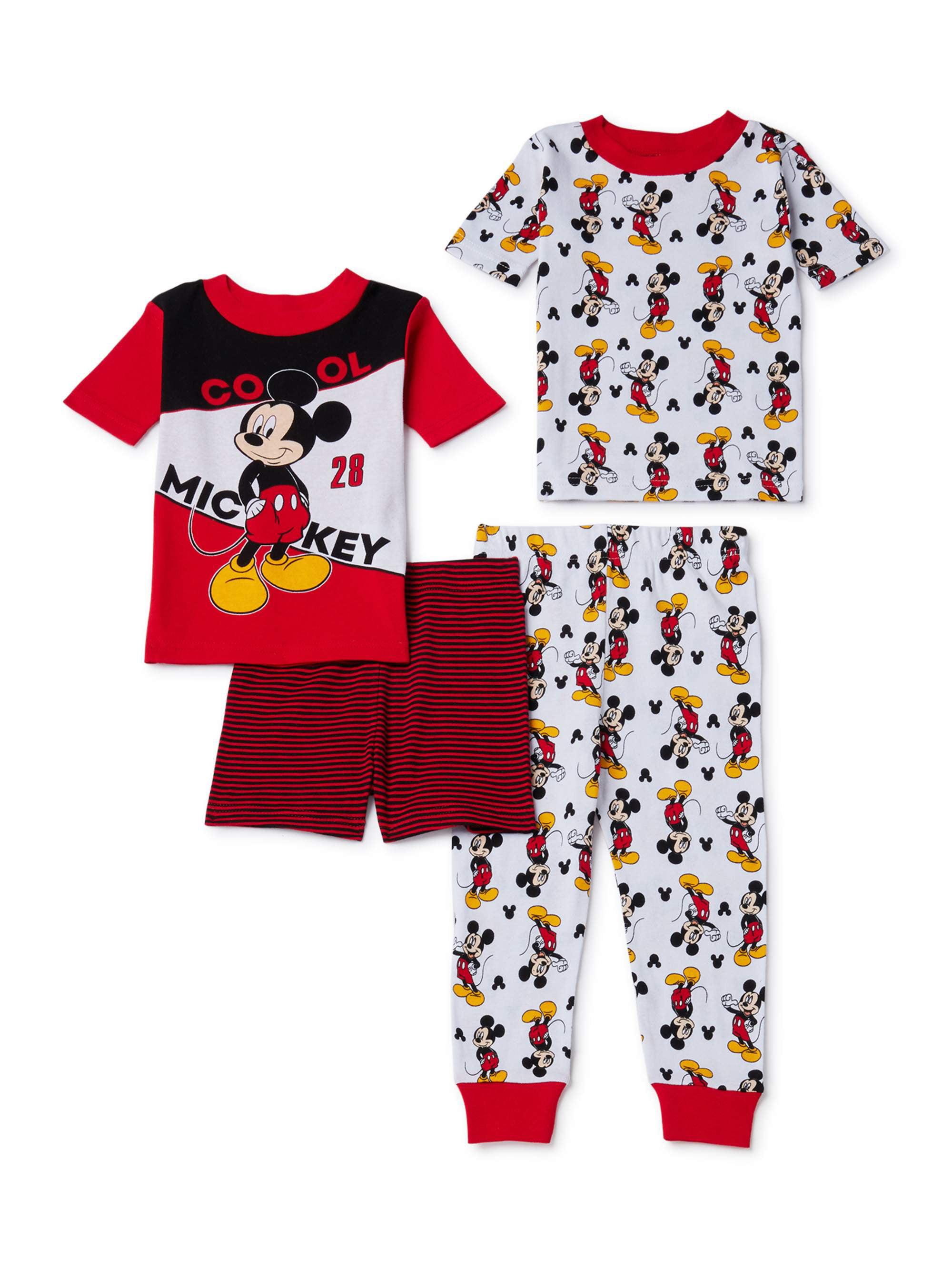 Infant Boys Stripe Blue Velour Mickey Mouse Footie Pajamas Blanket Sleeper