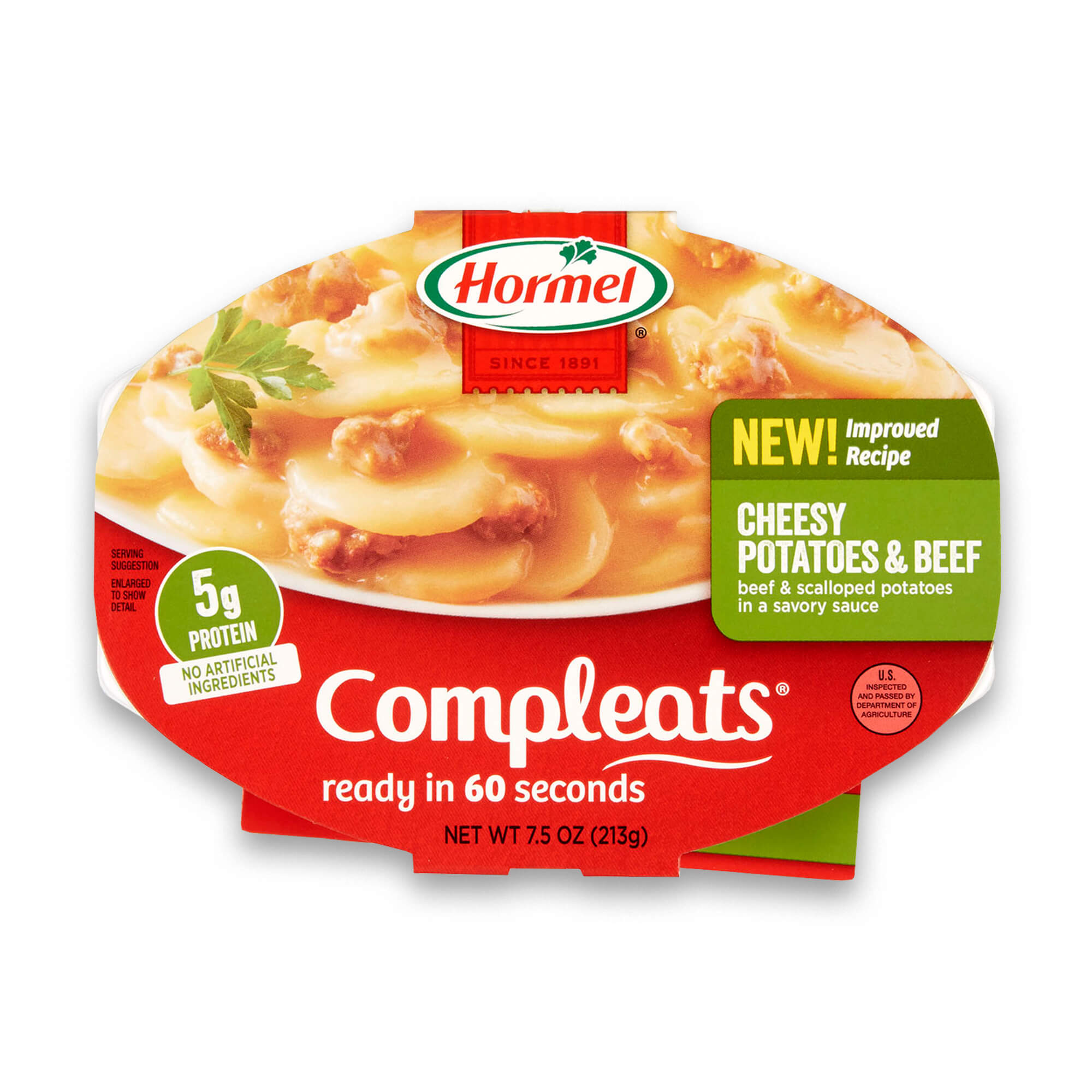 Hormel Compleats Cheesy Potatoes & Beef, 7.5 Ounce