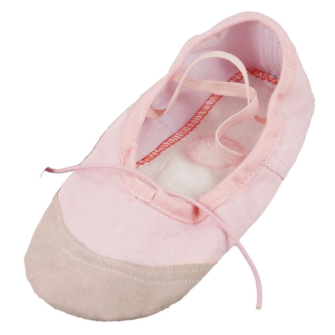ec070b4c0a5b Lady 34 Light Pink Faux Leather Split Sole Canvas Dancing Ballet ...