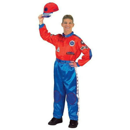 Costumes For All Occasions Ar34 Racing Suit Adult Red Blue - Racing Costumes