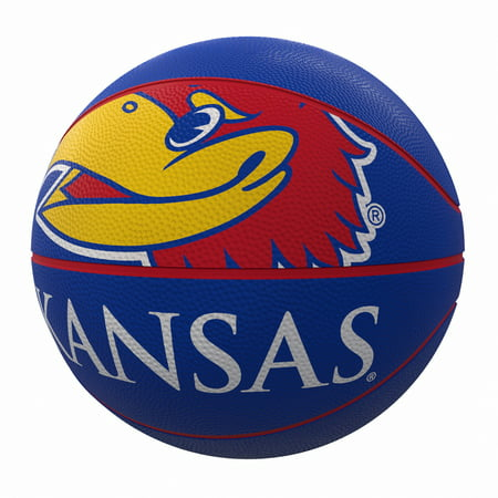 Kansas Jayhawks Mascot Official-Size Rubber Basketball