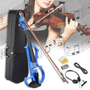 Best Full Size Violins - 4/4 Electric Violin Full Size Wood Silent Fiddle Review