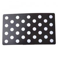 Petmate Plastic Food Mat - Black & White Dots 19 Long x 11.5 Wide