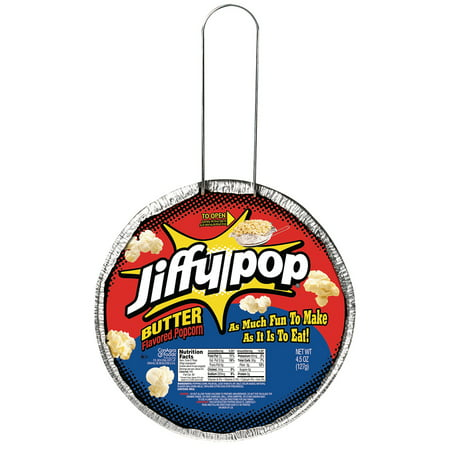 (4 Pack) Jiffy Pop Butter Flavored Popcorn, 4.5 Oz.