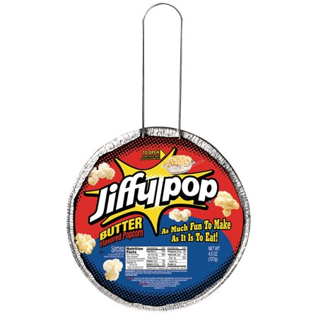 (4 Pack) Jiffy Pop Butter Flavored Popcorn, 4.5