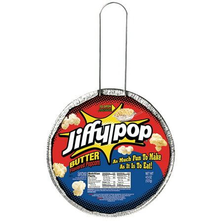(4 Pack) Jiffy Pop Butter Flavored Popcorn, 4.5 - Popcorn Snack Mix Halloween