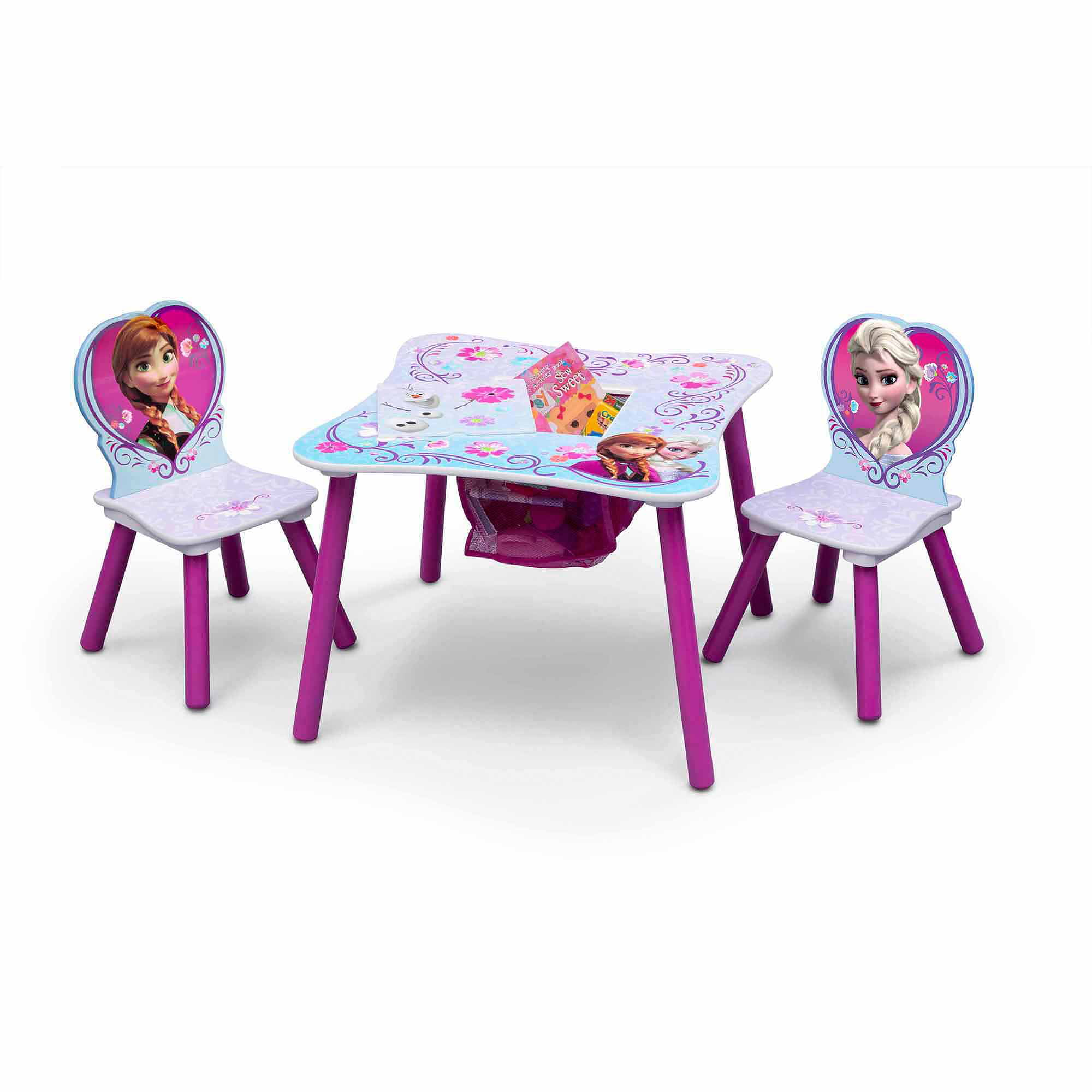 Disney Frozen Table and Chair Set with Storage Walmart – Girls Table and Chair