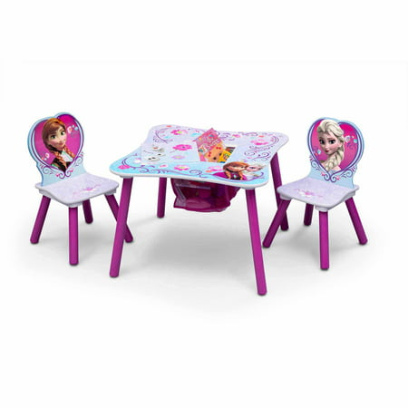 Frozen Toddler Table and Chair Set with Storage