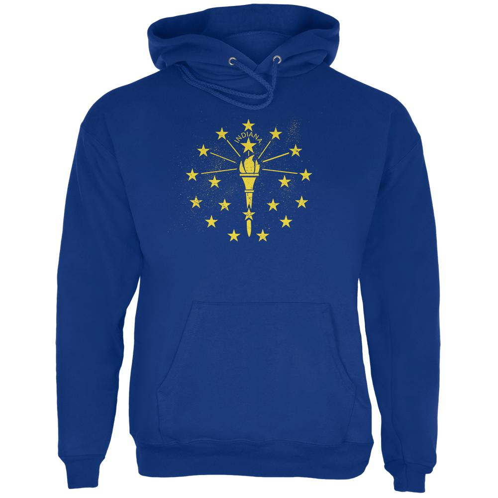 Born and Raised Indiana State Flag Mens Hoodie
