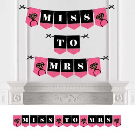 Girls Night Out - Wedding Shower Bunting Banner - Bridal & Bachelorette Party Decorations - Miss To Mrs for $<!---->