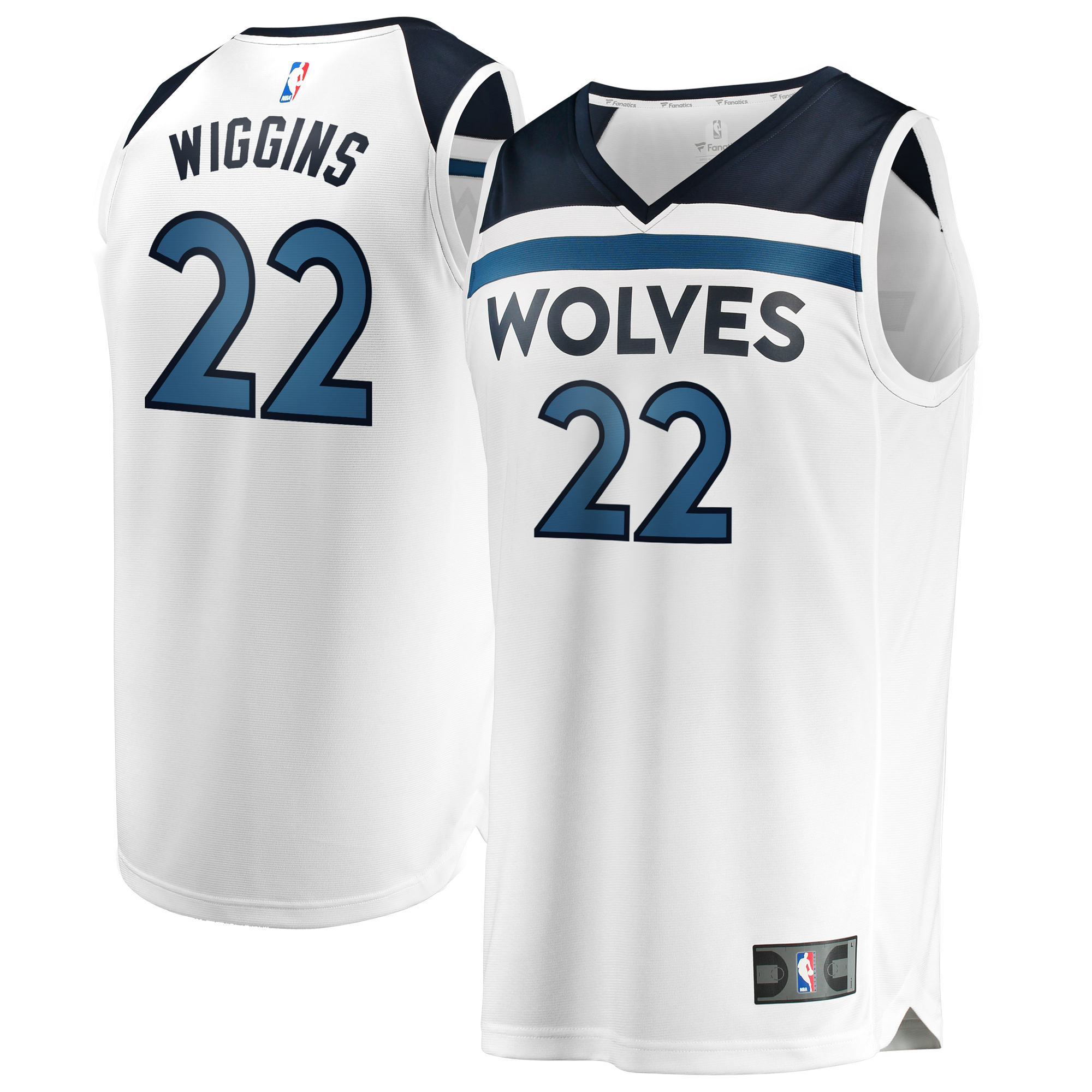 Andrew Wiggins Minnesota Timberwolves Fanatics Branded Youth Fast Break Replica Jersey White - Association Edition