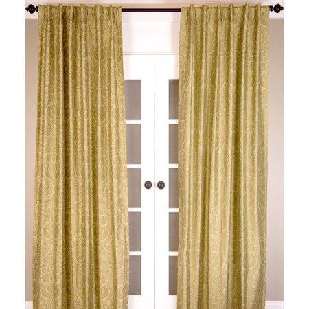 Darby Home Co Micke Dupioni Pure Silk Paisley Room Darkening Rod Pocket Single Curtain Panel