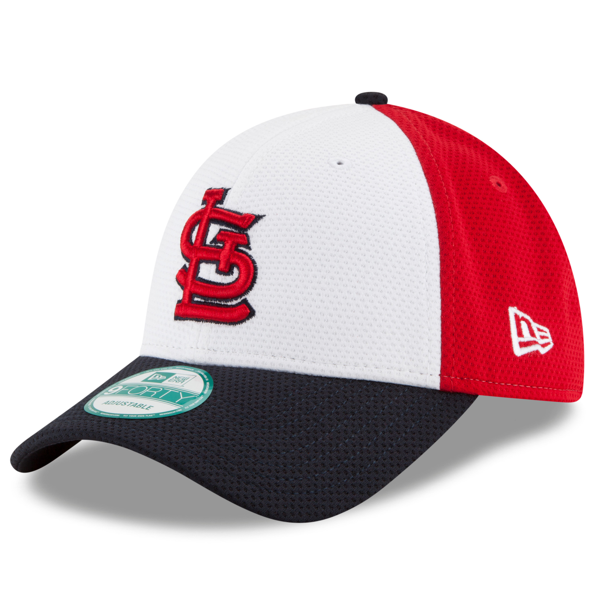 St. Louis Cardinals New Era Perfect Block 2 9FORTY Adjustable Hat - White - OSFA