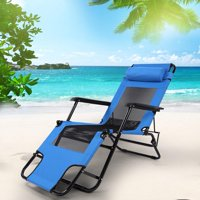 Outdoor Lounge Chair,Lengthening and Widening Mesh Folding Chair Leisure Beach Chair Outdoor