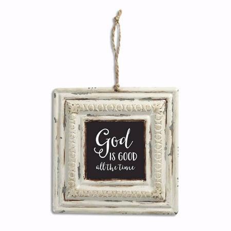 Vintage Tin Sign-God Is Good (6 x 6)