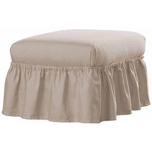 Serta Relaxed Fit Duck Furniture Slipcover, Ottoman