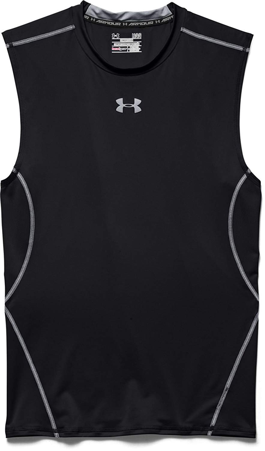 18e85f19d 1257469 - Under Armour 1257469 Men's Black UA HeatGear Sleeveless  Compression Shirt - 2XL - Walmart.com