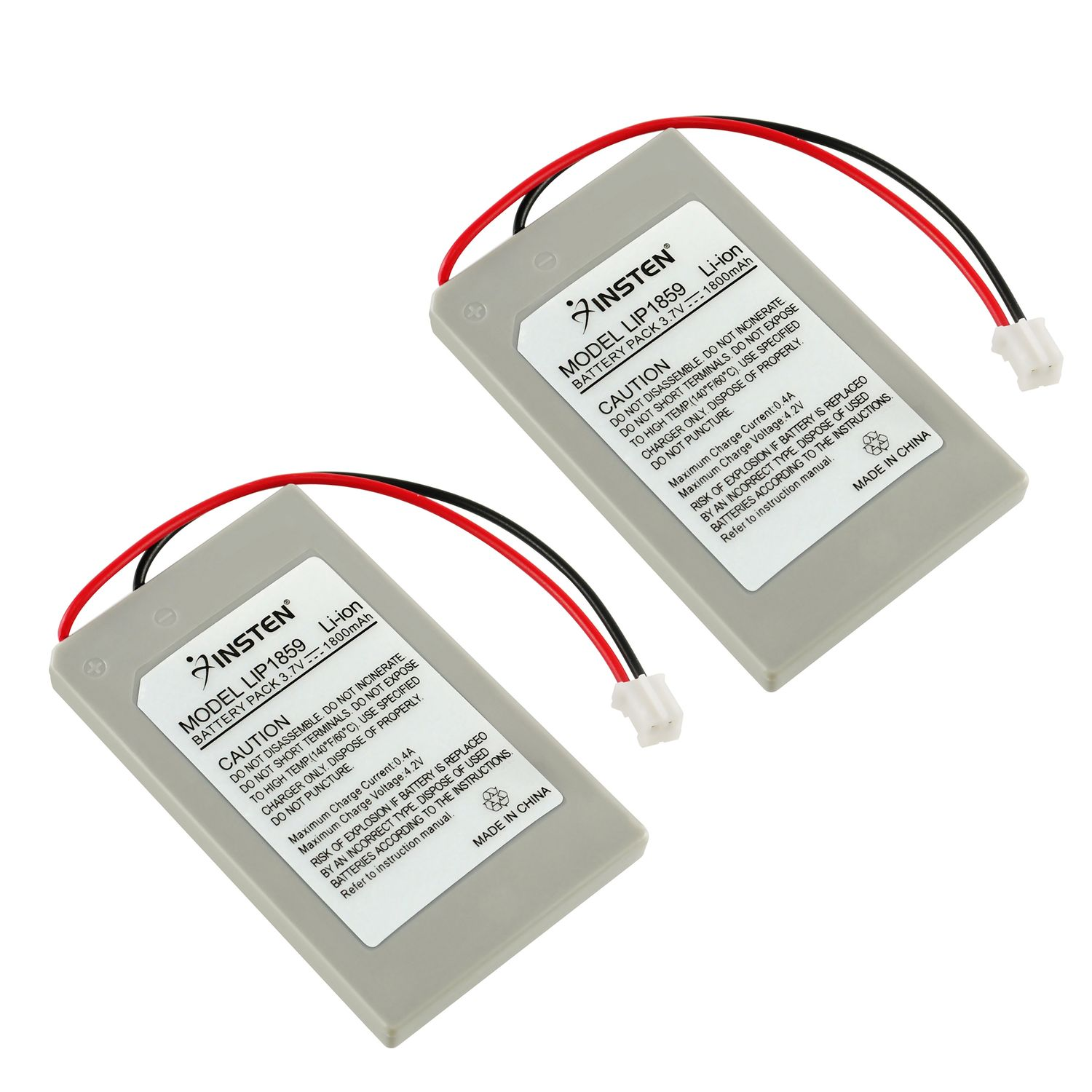 Insten New 2-pack 3.7v 1800mAh Battery Pack for Sony PS3 controller