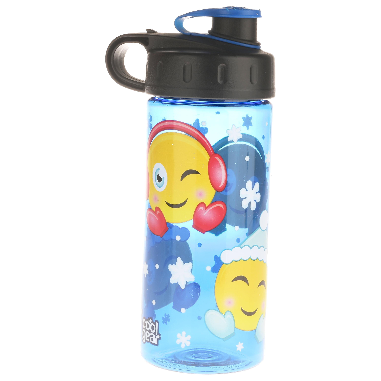 Cool Gear, Winter Emoji, 16 Fl oz Flip Top Beverage Bottle