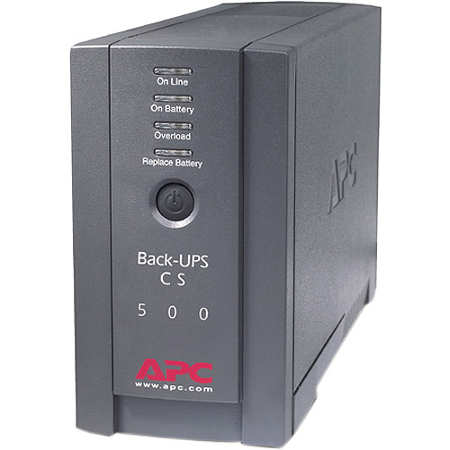 APC??Battery Backup 500VA Back-UPS CS 120V Interface Port DB-9 RS-232, USB B500BLK