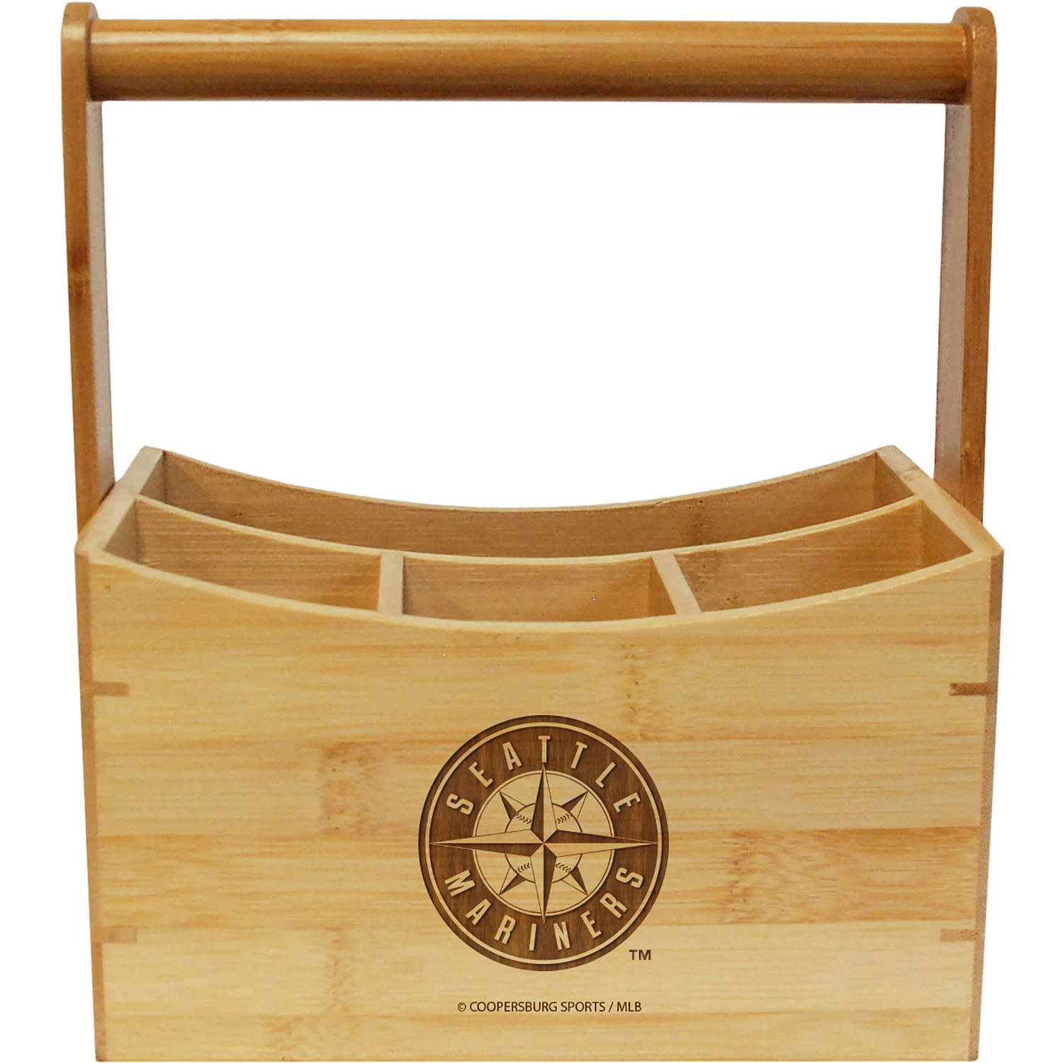 MLB Team Engraved Bamboo Utensil Caddy by