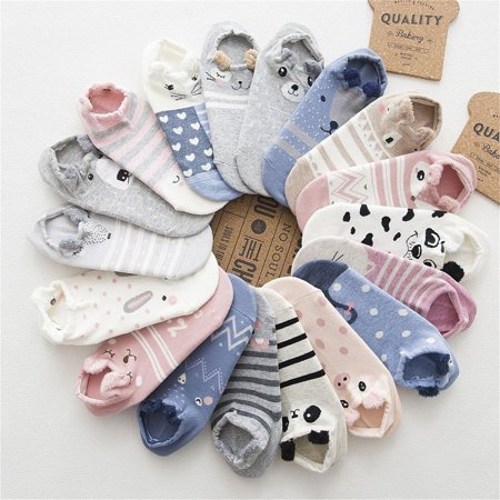 Breathable Kawaii Cartoon Women Comfortable Cotton Socks Short Ankle Socks - image 2 of 6