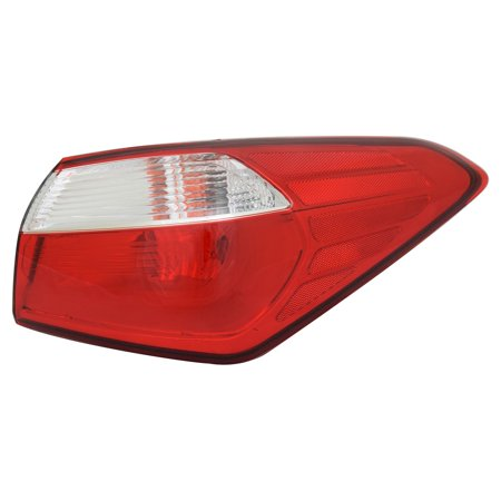 TYC 11-6603-00-1 Right Outer Tail Light Assembly for 14-16 Kia Forte