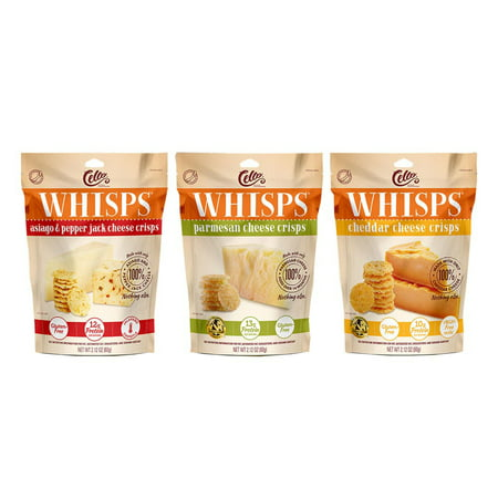 (Cello Whisps, 3 Pack Assortment, All Flavors: Parmesan, Cheddar, and Asiago Pepperjack, 6.39 oz. total)