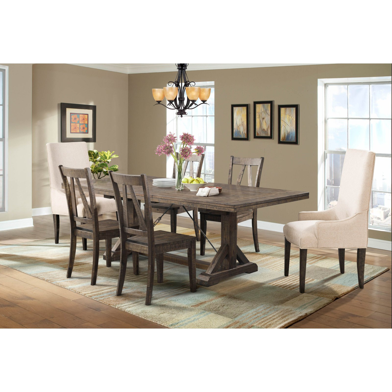 Picket House Flynn 7 Piece Parsons Dining Table Set