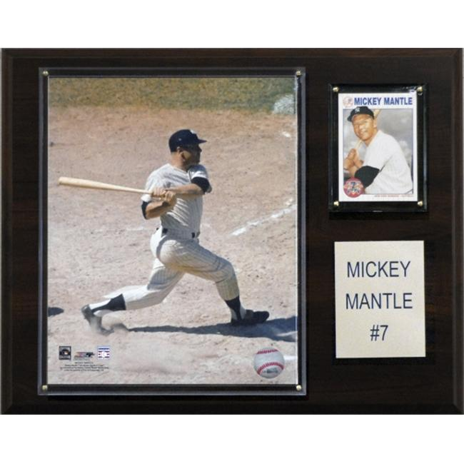 C & I Collectables 1215MANTLE MLB Mickey Mantle New York Yankees Player Plaque