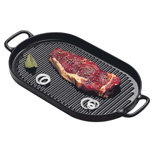 Paderno World Cuisine A1733735 Oval Cast Iron Grill