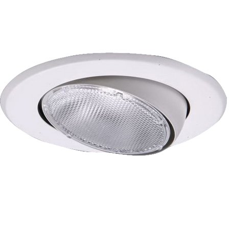 Airtite Housing - Halo Adjustable Eyeball Indoor Recessed Trim, 5 Inch Round, White, Fit Use with Air-Tite H5RT Recessed Housing
