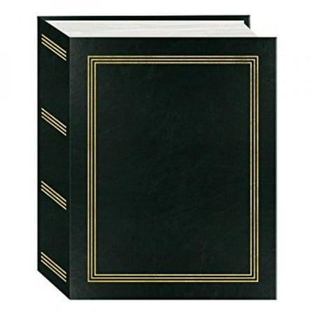 Pioneer Mini Max Bound Photo Album, Solid Color Designer Covers with Accents, Holds 100 4x6 Photos, 1 Per Page, Color: Black](Wedding Photo Albums 4x6)