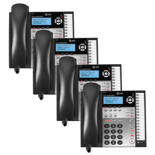 AT&T 1070 (4 Pack)  4-Line Corded Phone w/ Caller ID