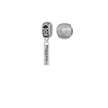 10k Rectangle Charms - Happiness Rectangle 10K Run She Believed She Could Charm Beads (Set of 2)