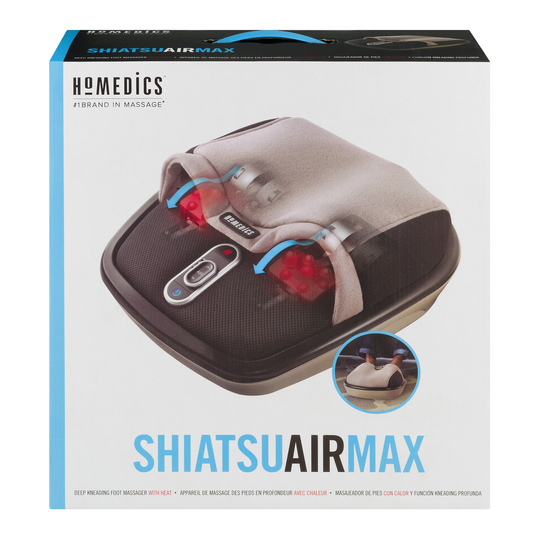 HoMedics Air Compression + Shiatsu Foot Massager