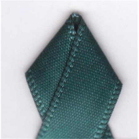 Teal Ribbons (Papilion R074300160347100Y .63 in. Single-Face Satin Ribbon 100 Yards -)