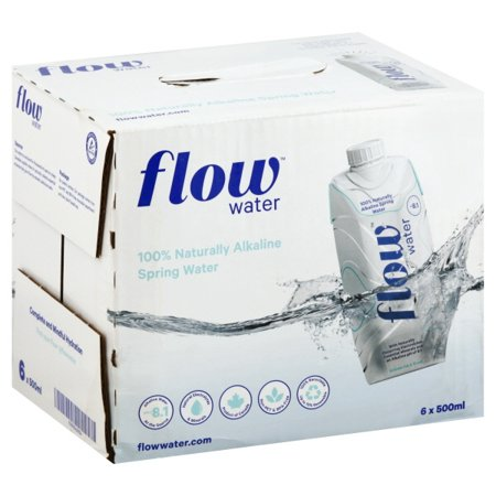 (Price/case)Flow Spring Water - Natural Alkaline - Case of 6 - 500 ML