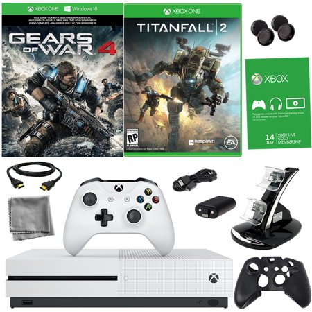 Xbox One S 1TB Gears of War 4 Bundle With Titanfall 2 & 8 in 1 Kit