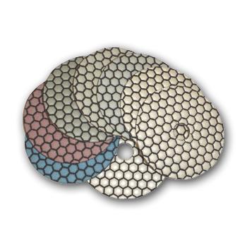 "5"" Monster Dry Diamond Polishing Pads Set of 8 with white..."