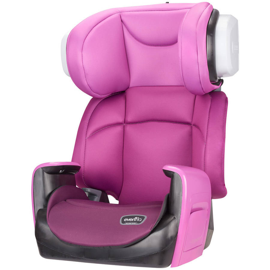 Evenflo Spectrum High Back Booster Car Seat, Poppy Pink