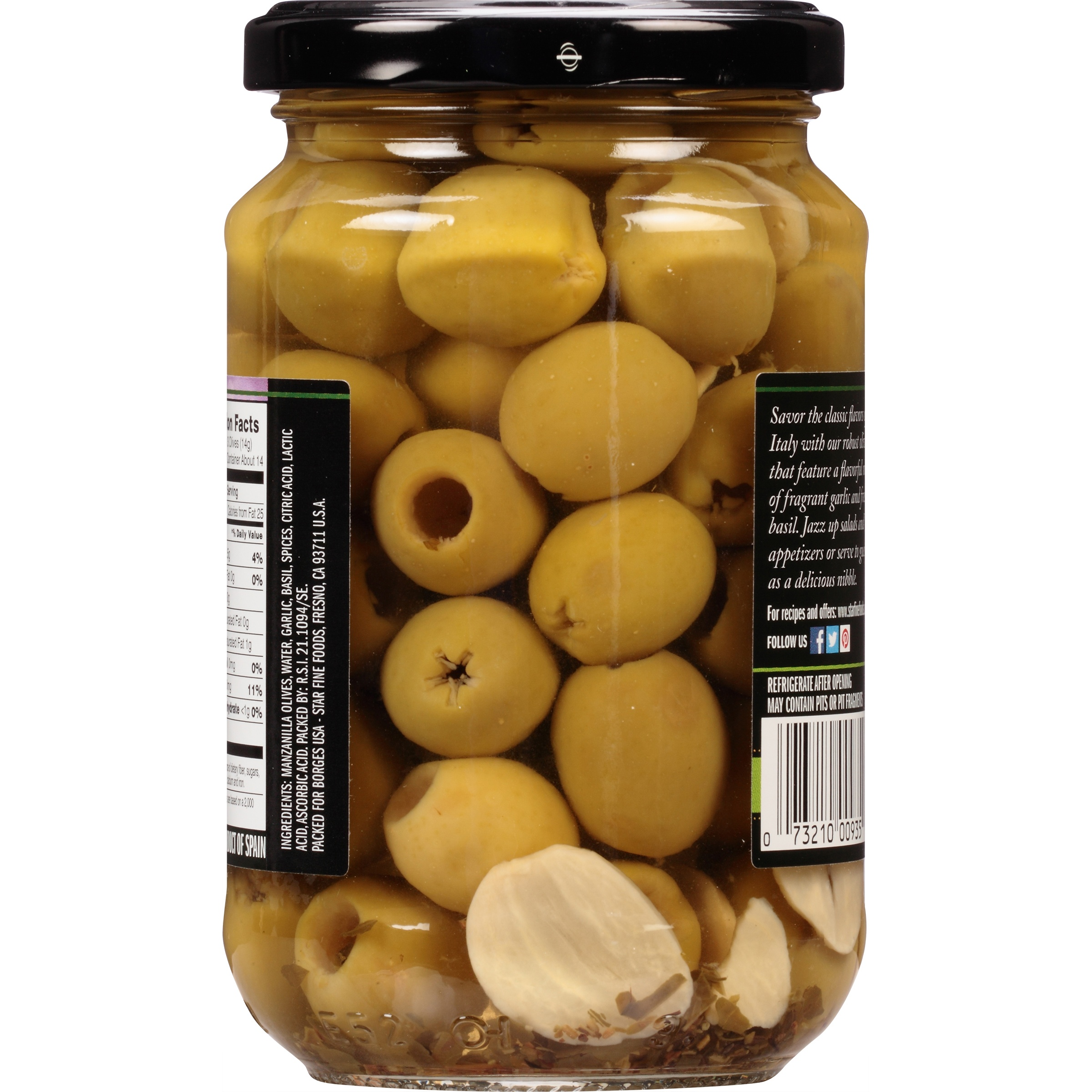 Star® Garlic & Basil Marinated Olives 5.75 oz. Bottle - Walmart.com