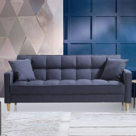 Surprising Modern Linen Fabric Tufted Small Space Living Room Sofa Couch Inzonedesignstudio Interior Chair Design Inzonedesignstudiocom