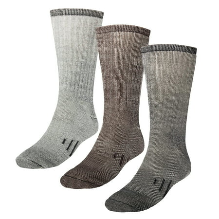 3 Pairs Thermal 80% Merino Wool Socks Thermal Hiking Crew Winter Men's Women's ()