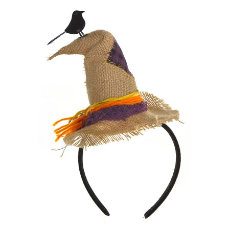 Six Pack Halloween Costume (Scarecrow Hat Headband, Halloween Costume Accessory, Burlap, 6